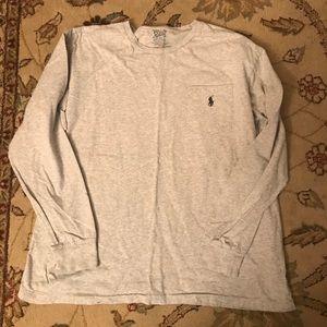 Polo by Ralph Lauren Grey Long Sleeve T-shirt